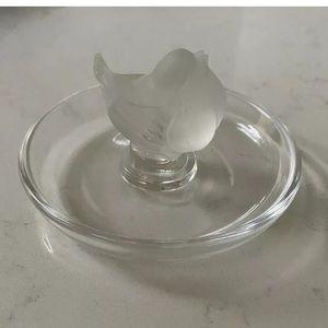 LALIQUE France Crystal Ring Bowl Dish Tray.